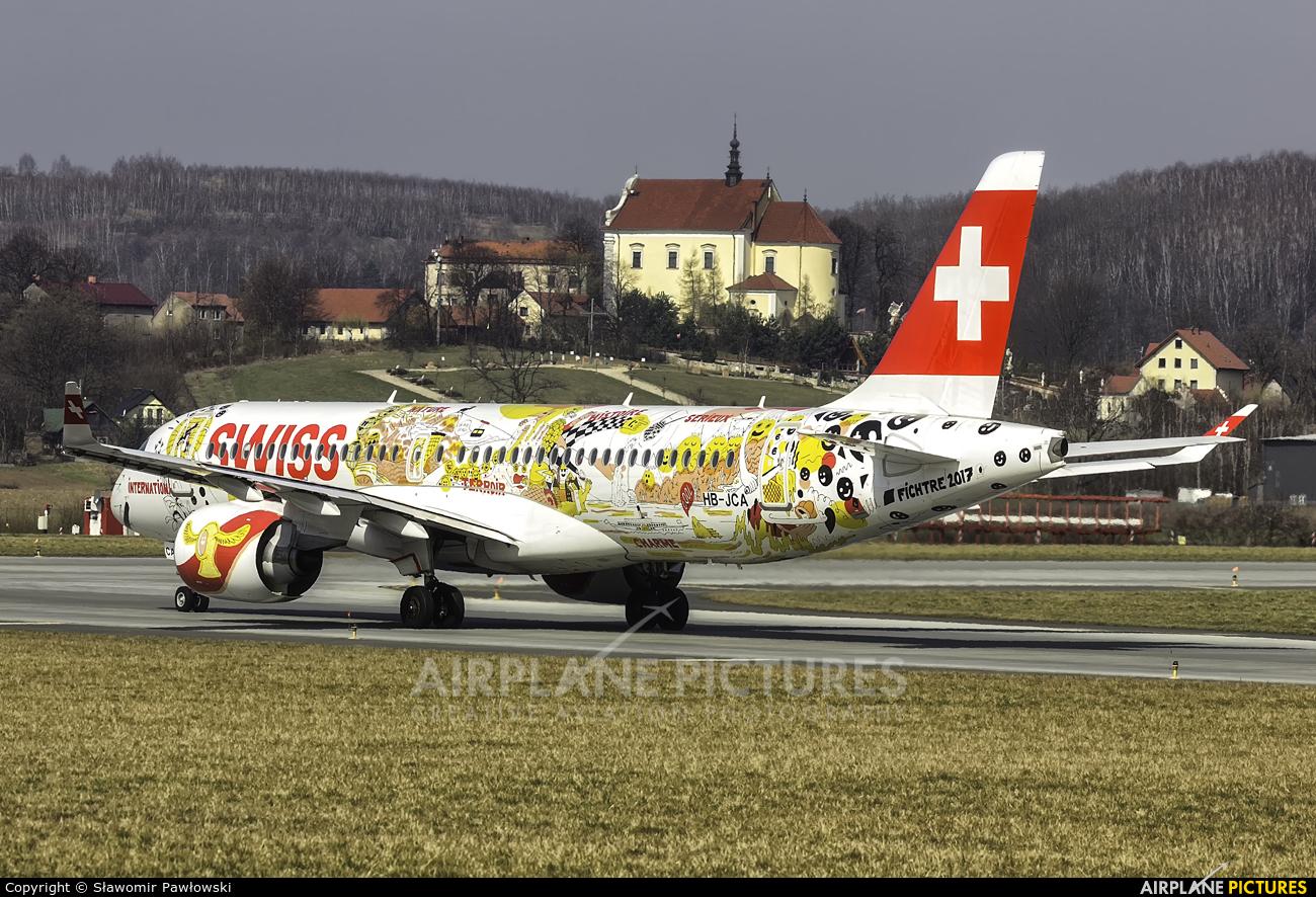 Swiss HB-JCA aircraft at Kraków - John Paul II Intl