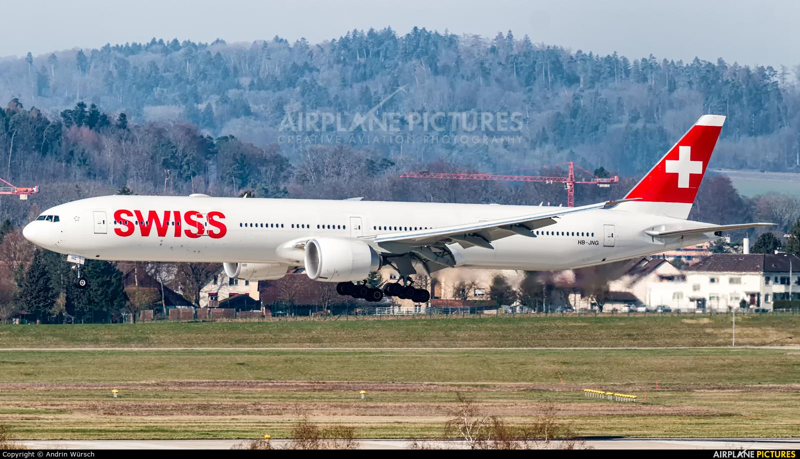 Swiss HB-JNG aircraft at Zurich
