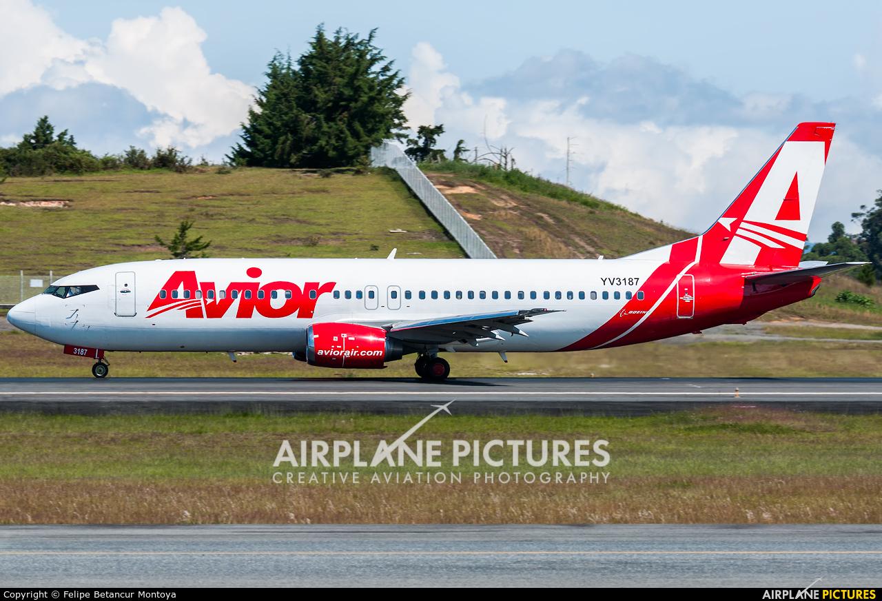 Avior Airlines YV3187 aircraft at Medellin - Jose Maria Cordova Intl