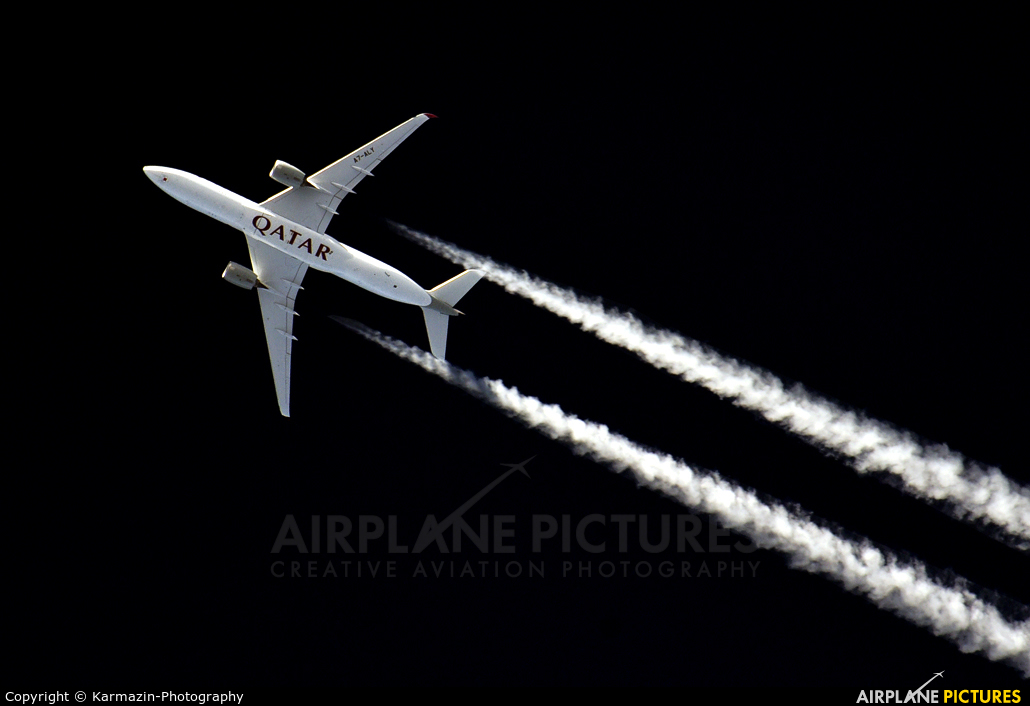 Qatar Airways A7-ALY aircraft at In Flight - Germany