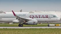 A7-AHS - Qatar Airways Airbus A320 aircraft