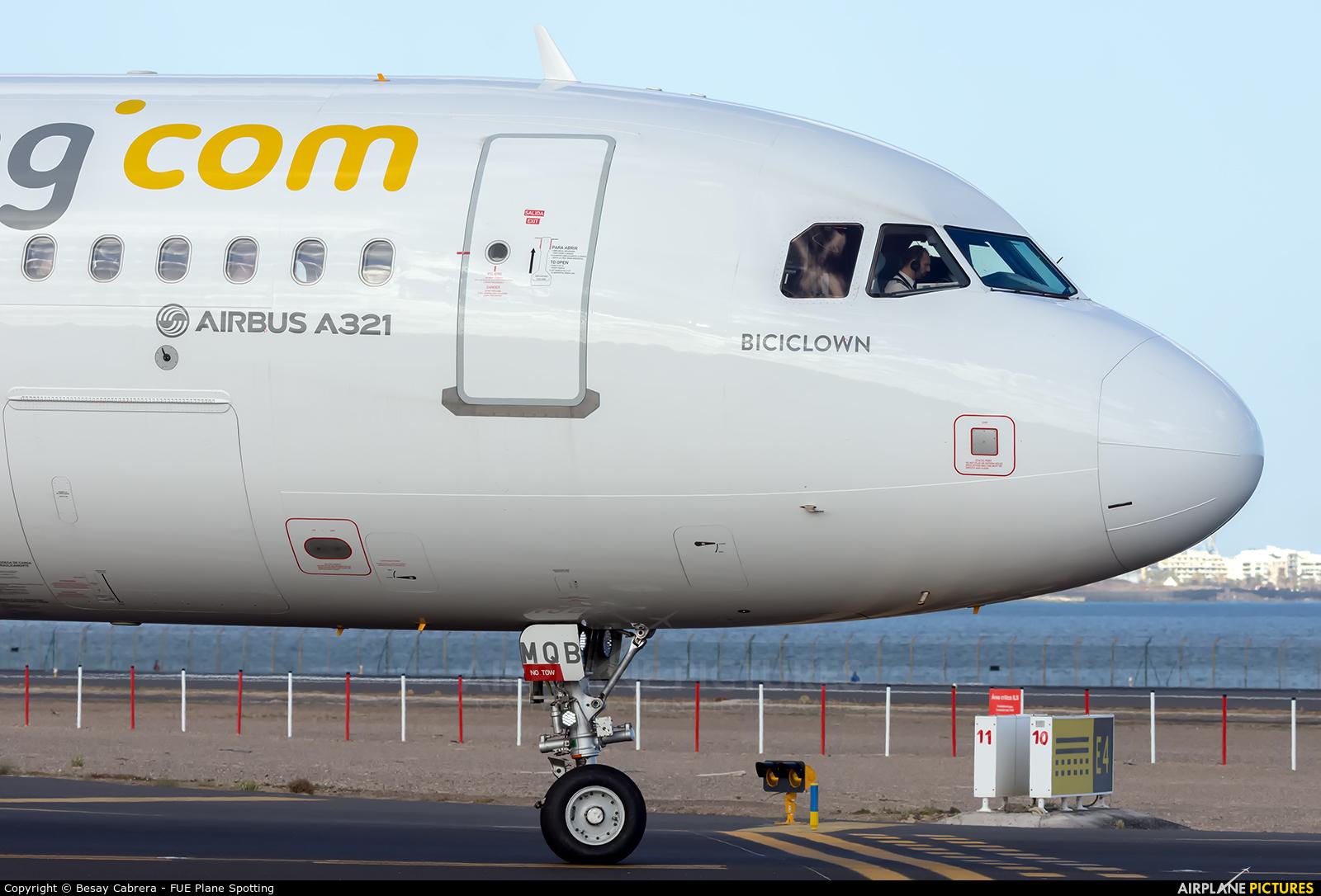 Vueling Airlines EC-MQB aircraft at Lanzarote - Arrecife