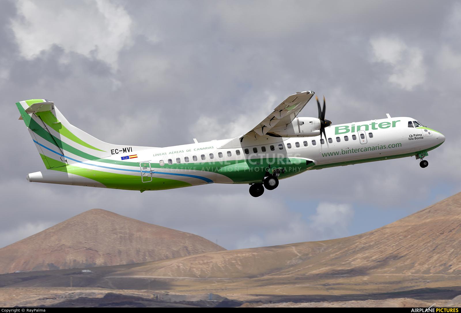 Binter Canarias EC-MVI aircraft at Lanzarote - Arrecife