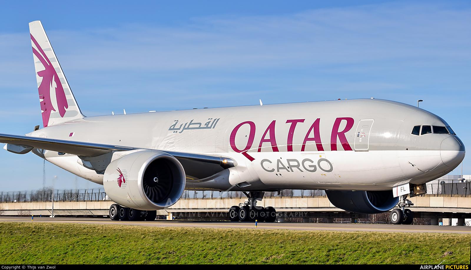 Qatar Airways Cargo A7-BFL aircraft at Amsterdam - Schiphol