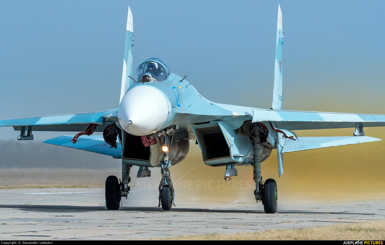 Russia - Air Force 12 aircraft at Primorsko-Akhtarsk