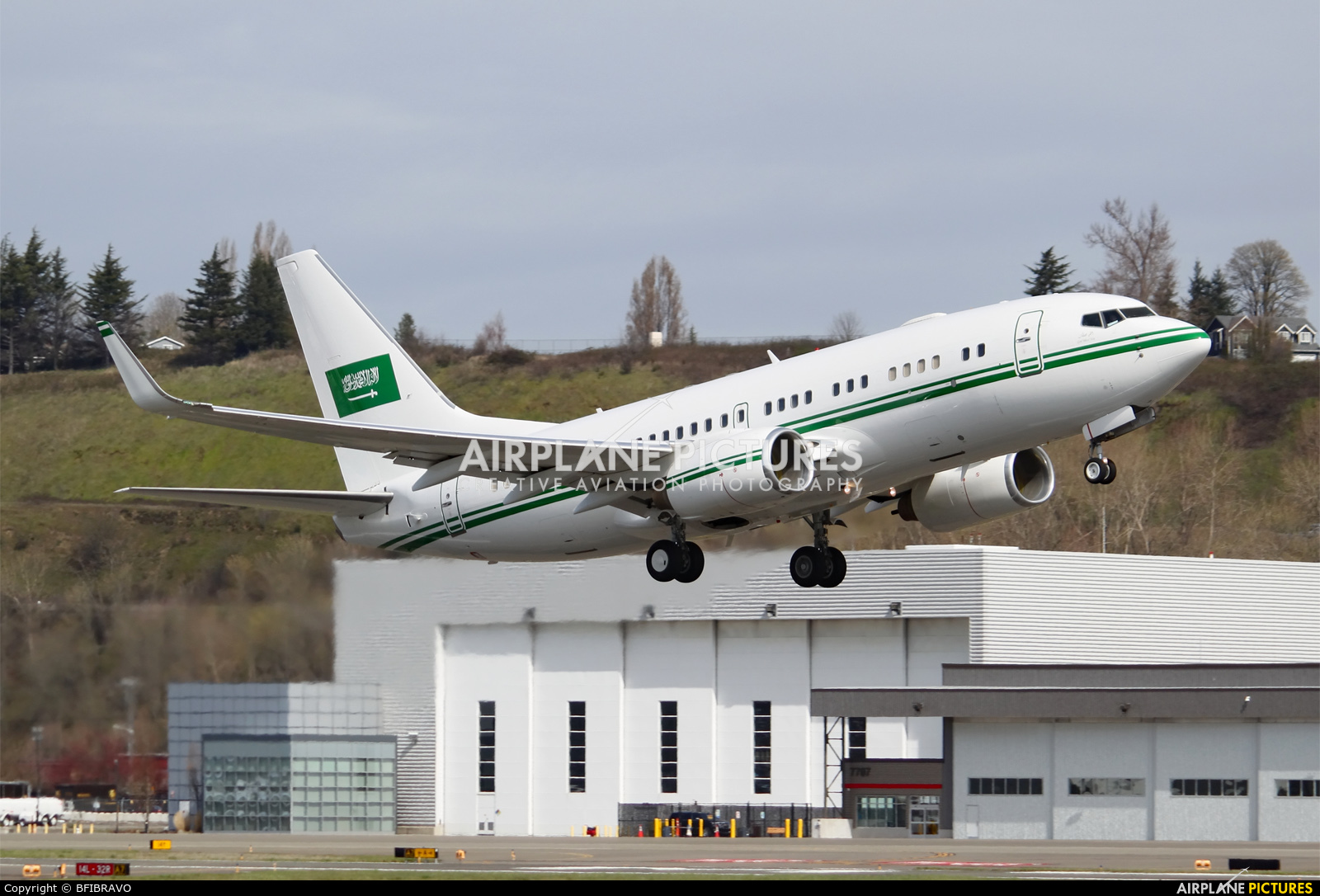 Saudi Arabia - Air Force HZ-101 aircraft at Seattle - Boeing Field / King County Intl