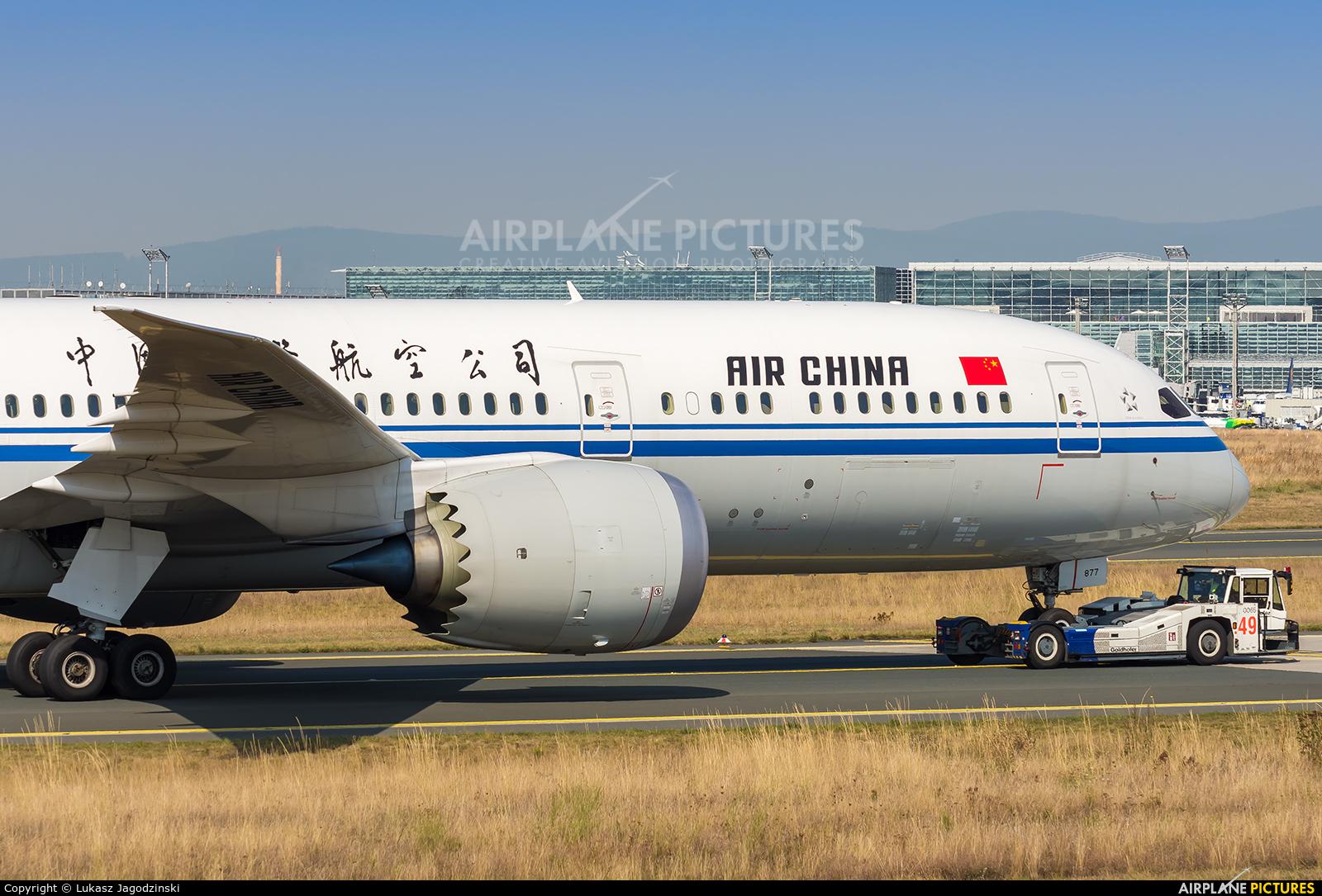 Air China B-7877 aircraft at Frankfurt