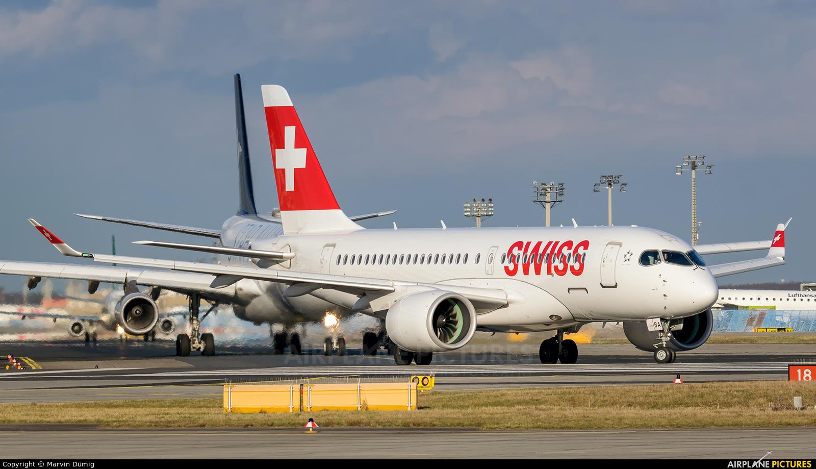 Swiss HB-JBA aircraft at Frankfurt