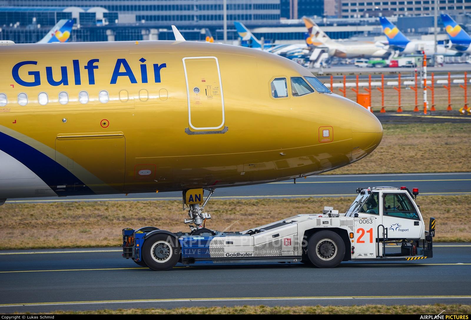 Gulf Air A9C-AN aircraft at Frankfurt