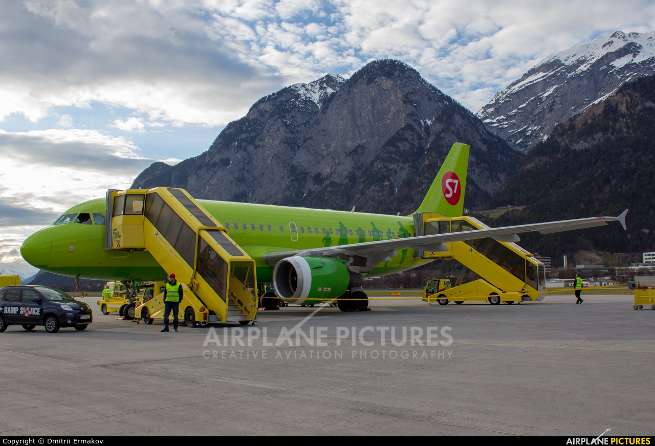 S7 Airlines VP-BTU aircraft at Innsbruck