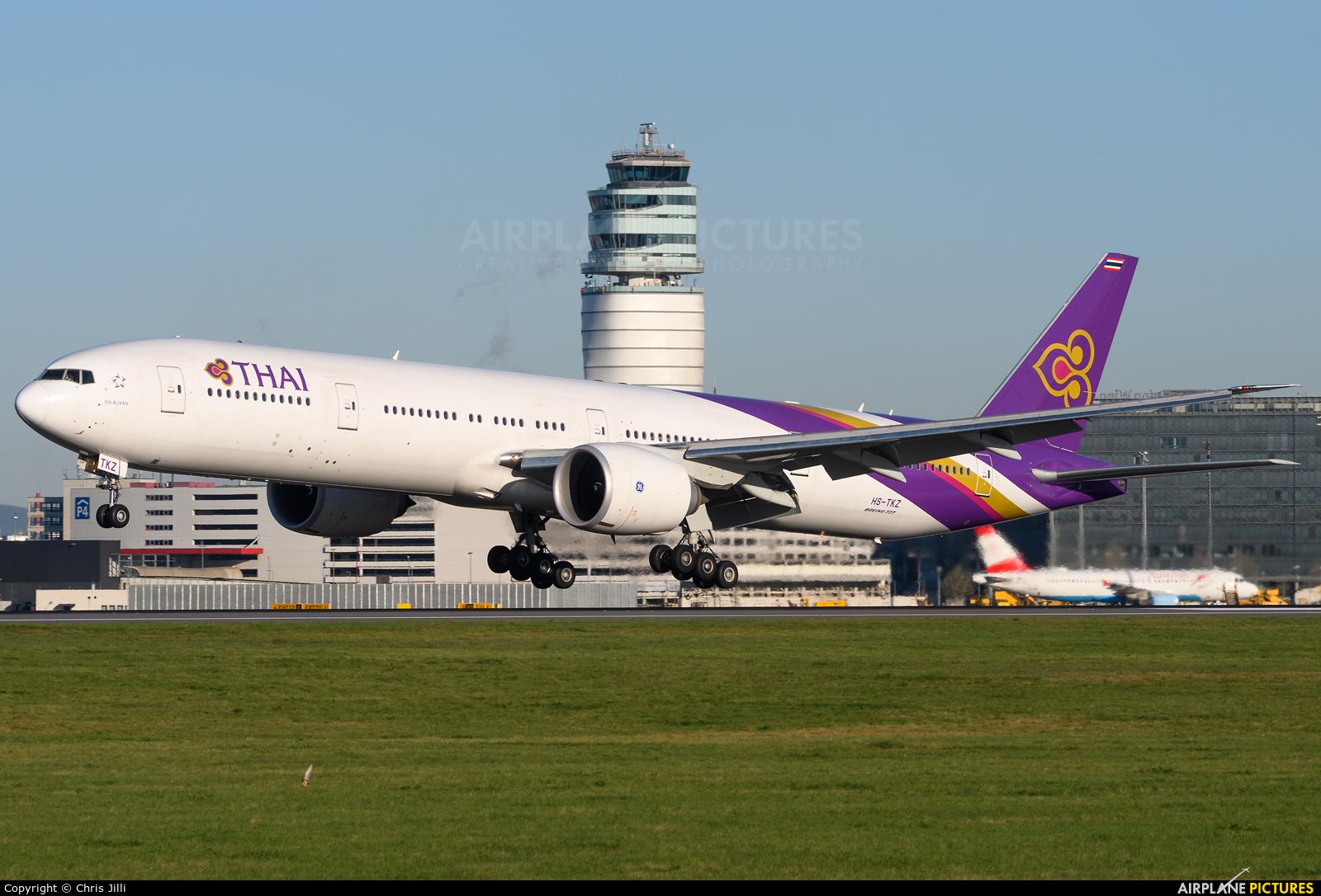 Thai Airways HS-TKZ aircraft at Vienna - Schwechat
