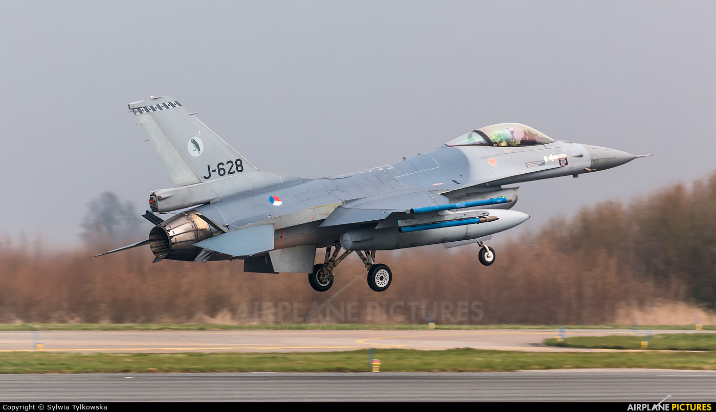 Netherlands - Air Force J-628 aircraft at Leeuwarden