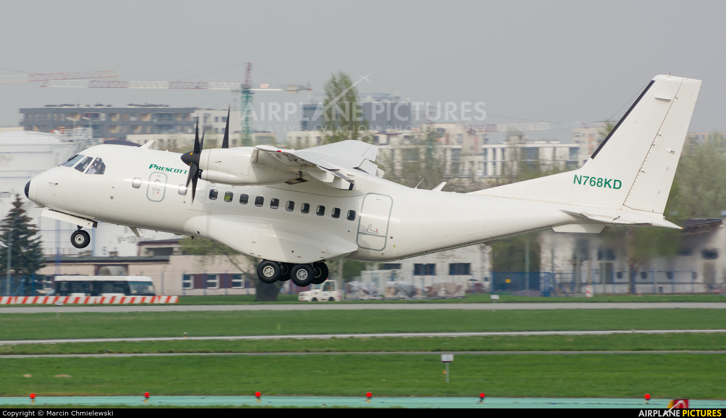 Prescott Support N768KD aircraft at Warsaw - Frederic Chopin