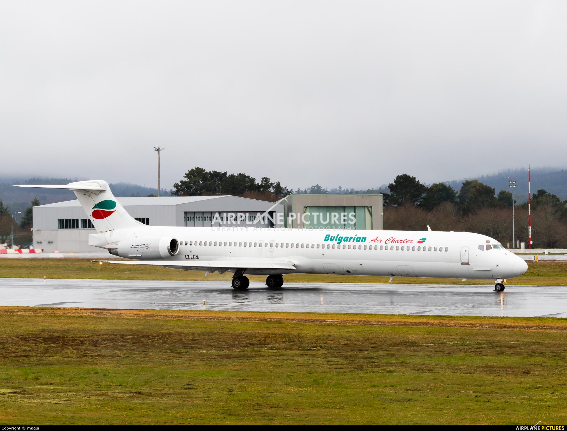 Bulgarian Air Charter LZ-LDM aircraft at Santiago de Compostela