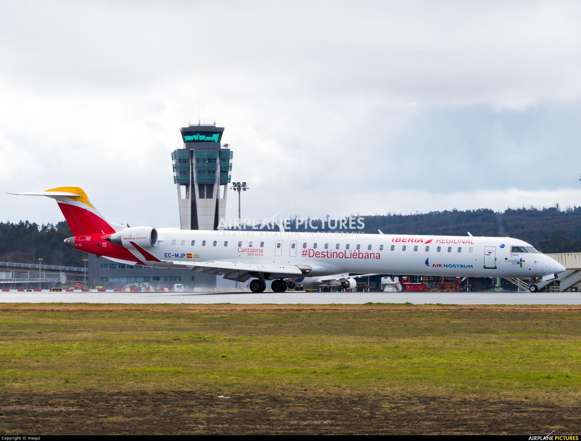Air Nostrum - Iberia Regional EC-MJP aircraft at Santiago de Compostela
