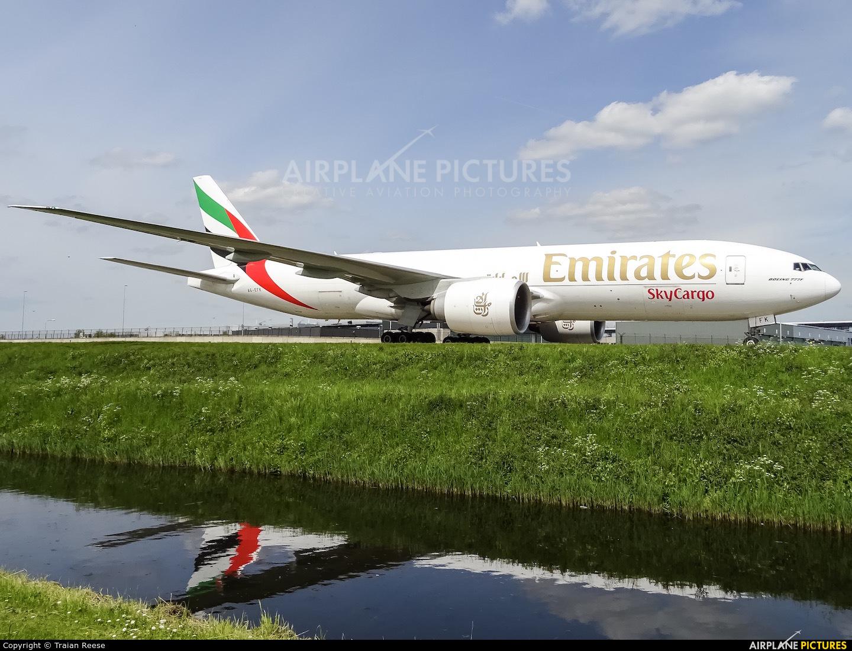 Emirates Sky Cargo A6-EFK aircraft at Amsterdam - Schiphol