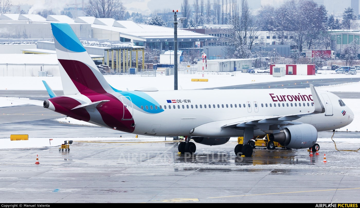 Eurowings Europe OE-IEW aircraft at Salzburg