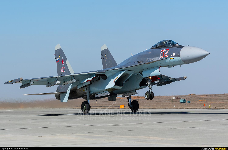 Russia - Air Force 02 aircraft at Astrakhan - Privolzhkiy Air Base