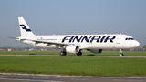 Finnair Airbus A321 OH-LZD at Ostrava Mošnov airport