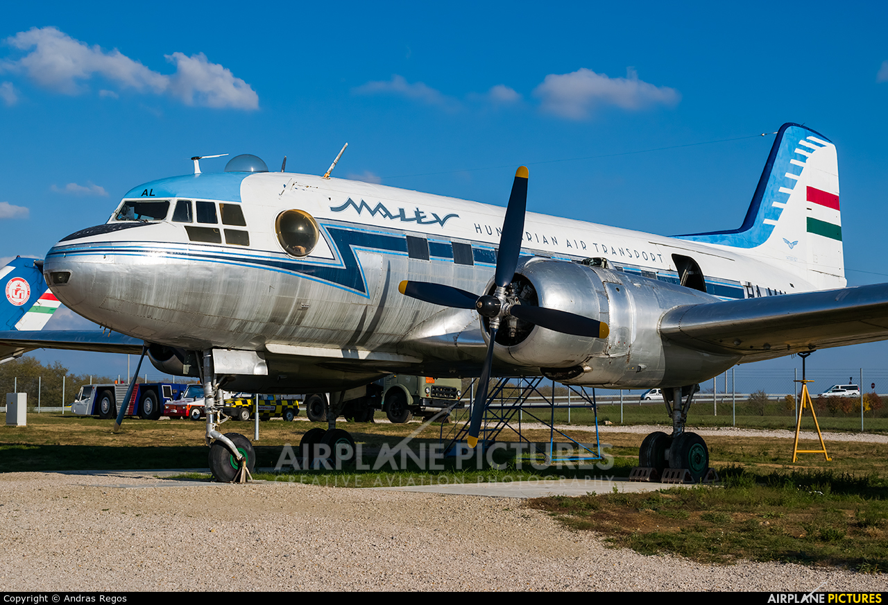 Malev HA-MAL aircraft at Budapest Ferihegy Museum