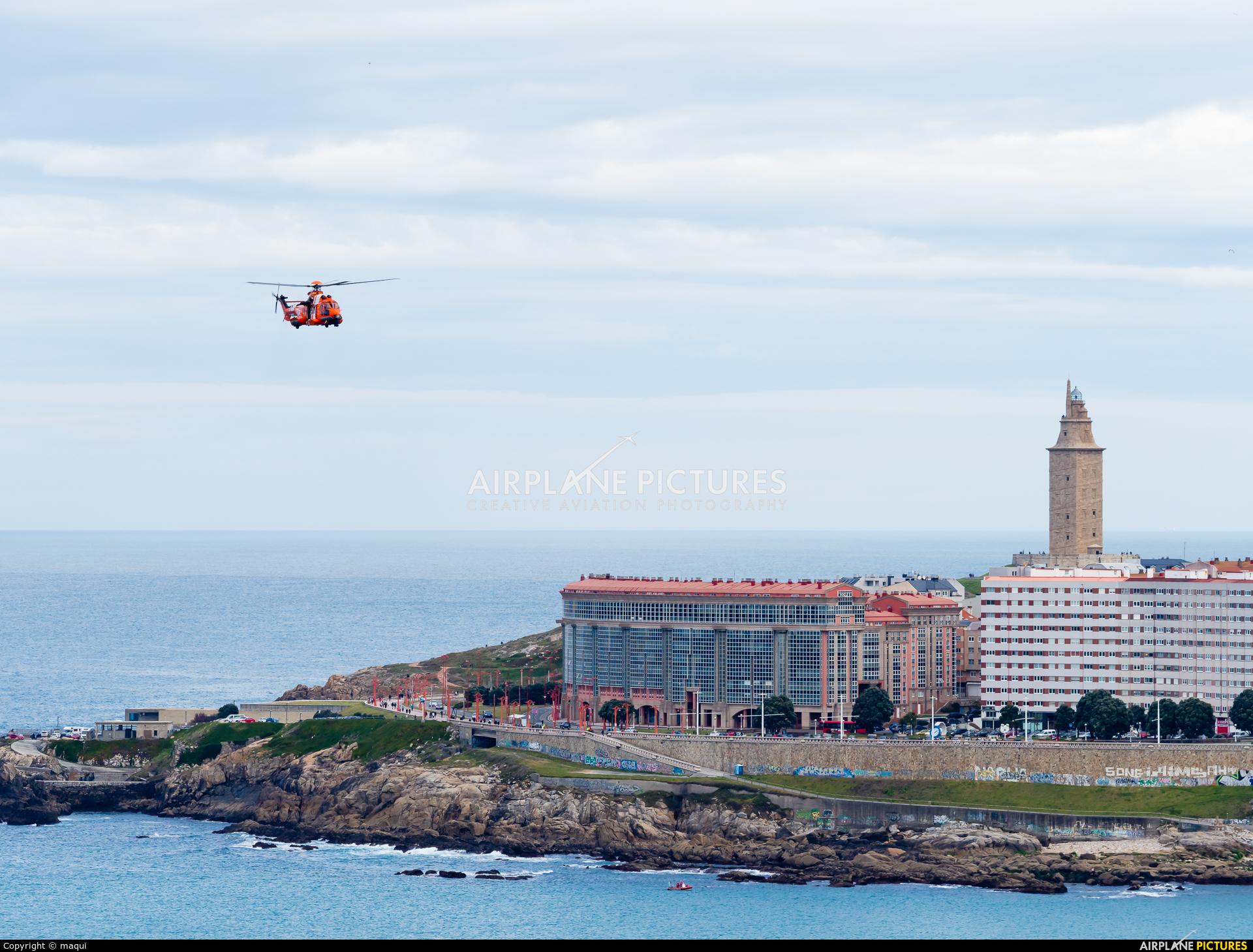 Spain - Coast Guard EC-MCR aircraft at La Coruña - Orzan Bay