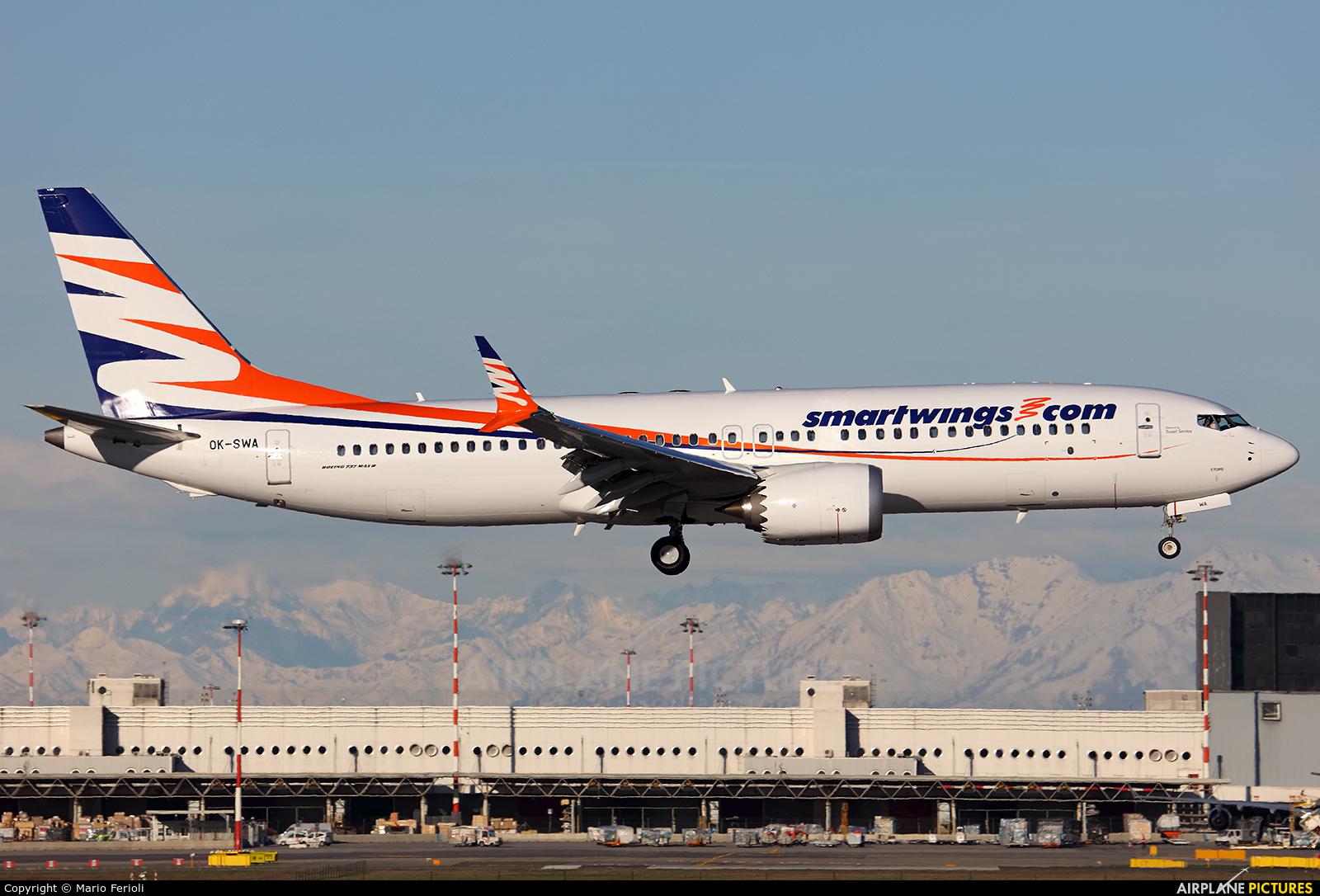 SmartWings OK-SWA aircraft at Milan - Malpensa