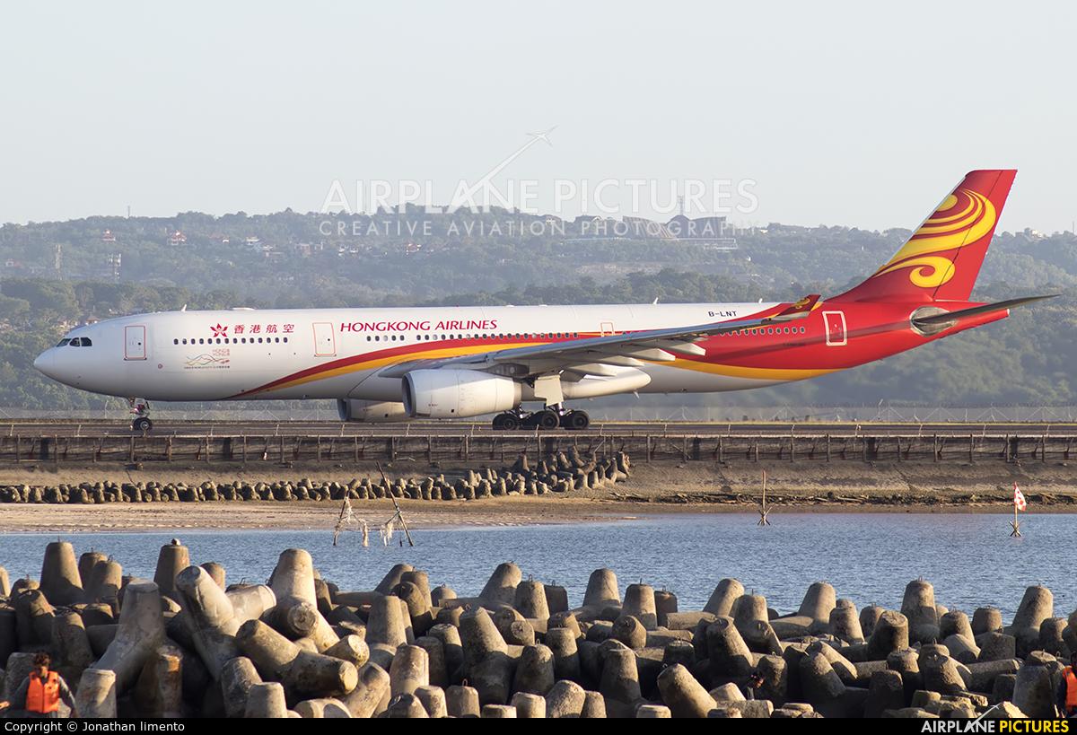 Hong Kong Airlines B-LNT aircraft at Denpasar- Ngurah Rai Intl