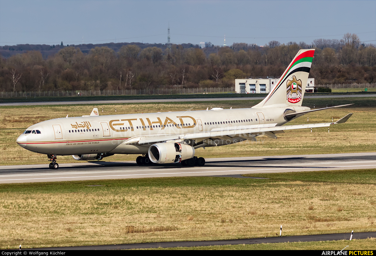 Etihad Airways A6-EYJ aircraft at Düsseldorf