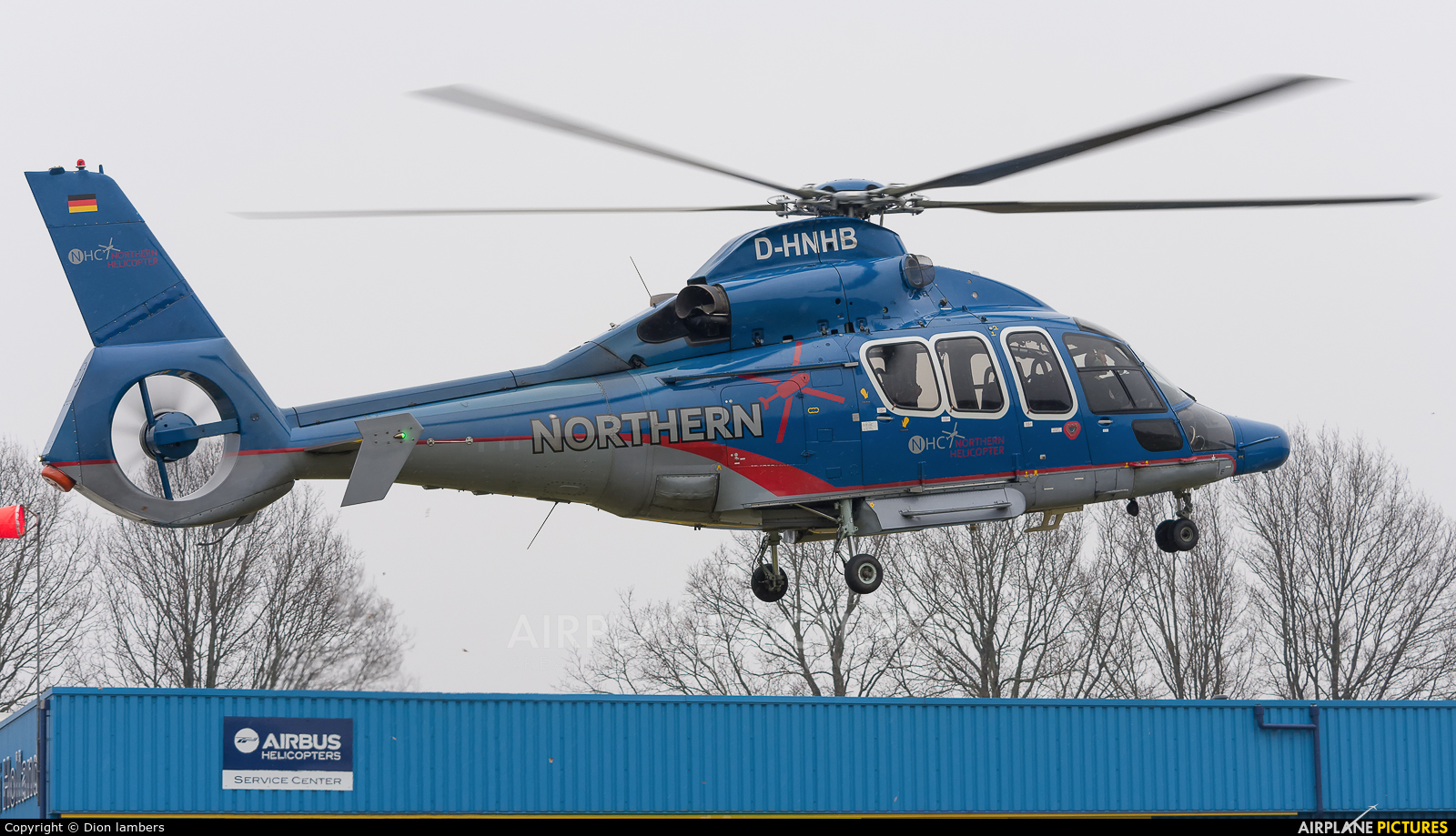 Northern Helicopters D-HNHB aircraft at Heli-port Emmen