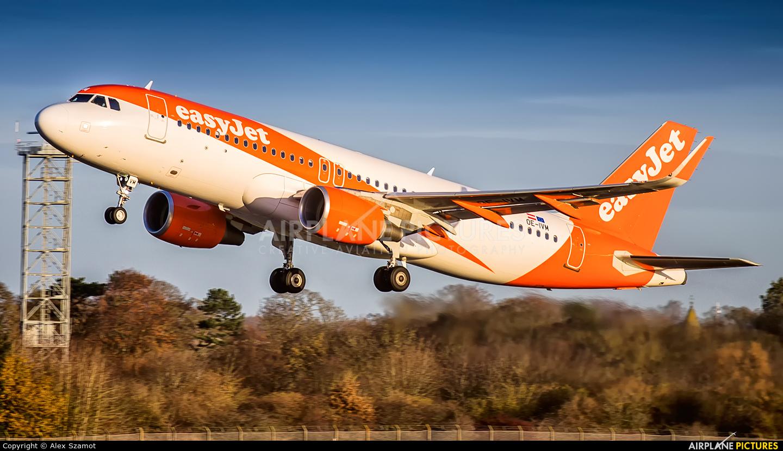 easyJet Europe OE-IVM aircraft at Edinburgh