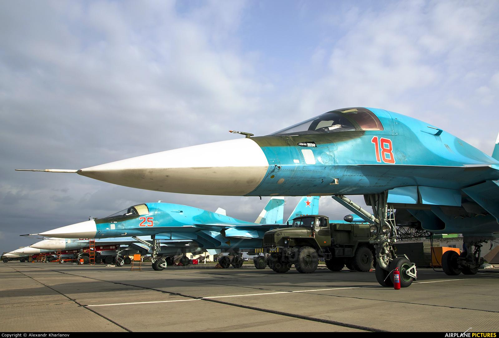 Russia - Air Force 18 aircraft at Primorsko-Akhtarsk