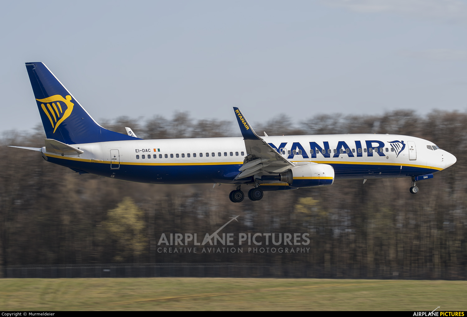 Ryanair EI-DAC aircraft at Luxembourg - Findel