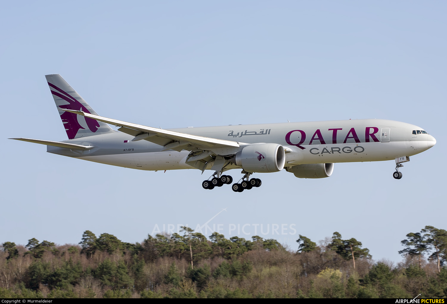Qatar Airways Cargo A7-BFB aircraft at Luxembourg - Findel