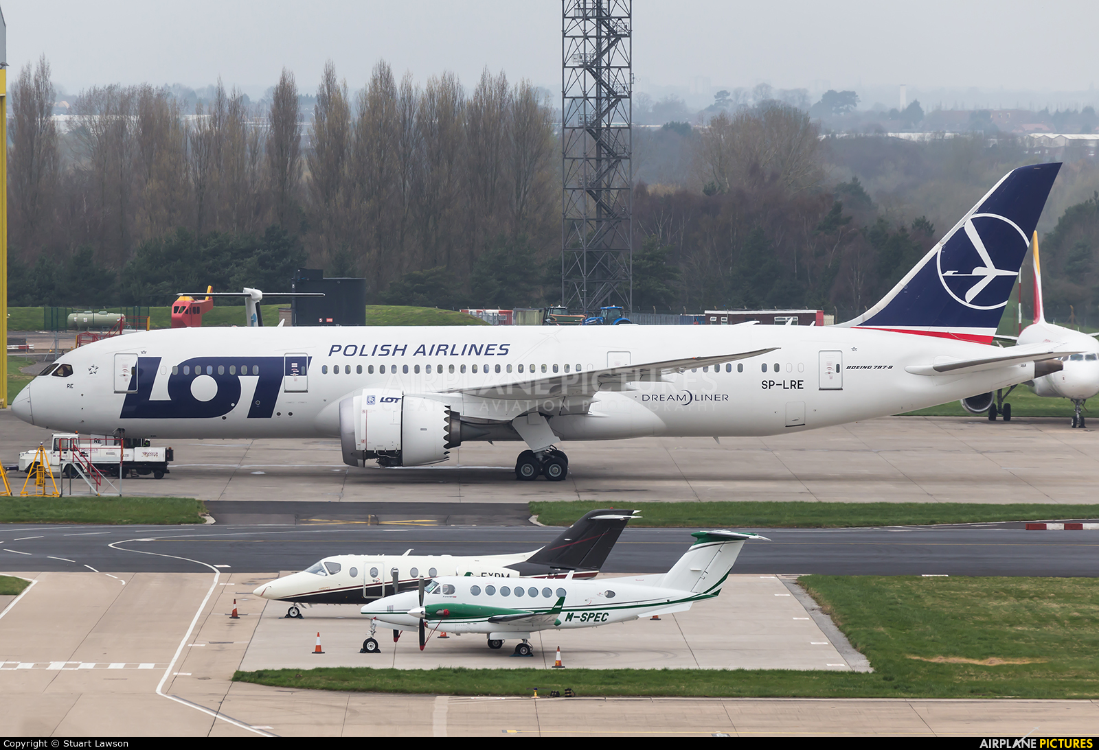 LOT - Polish Airlines SP-LRE aircraft at Birmingham