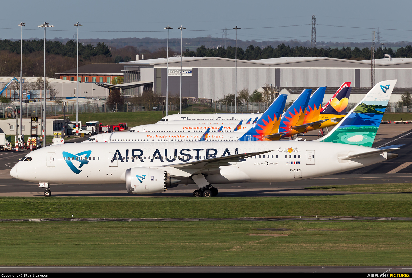 Air Austral F-OLRC aircraft at Birmingham