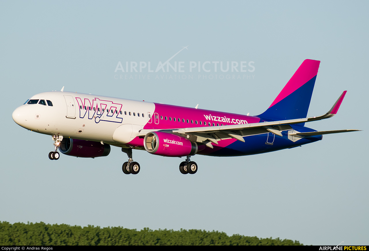 Wizz Air HA-LYX aircraft at Budapest Ferenc Liszt International Airport