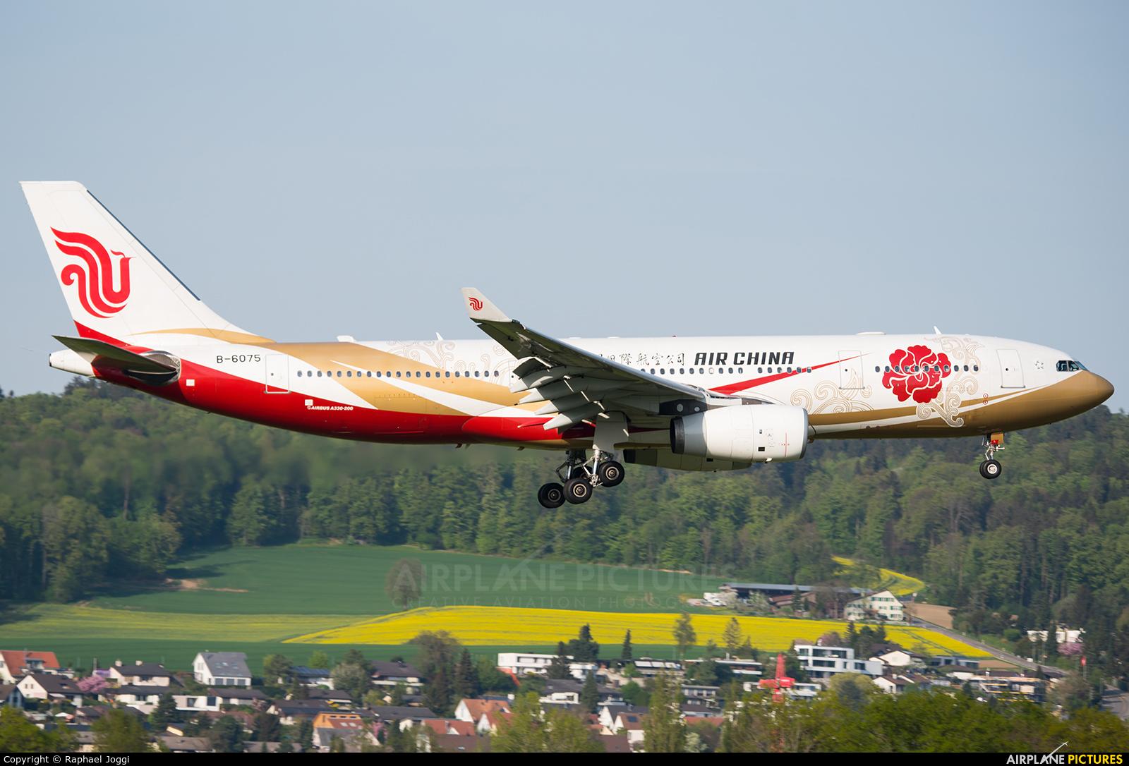 Air China B-6075 aircraft at Zurich