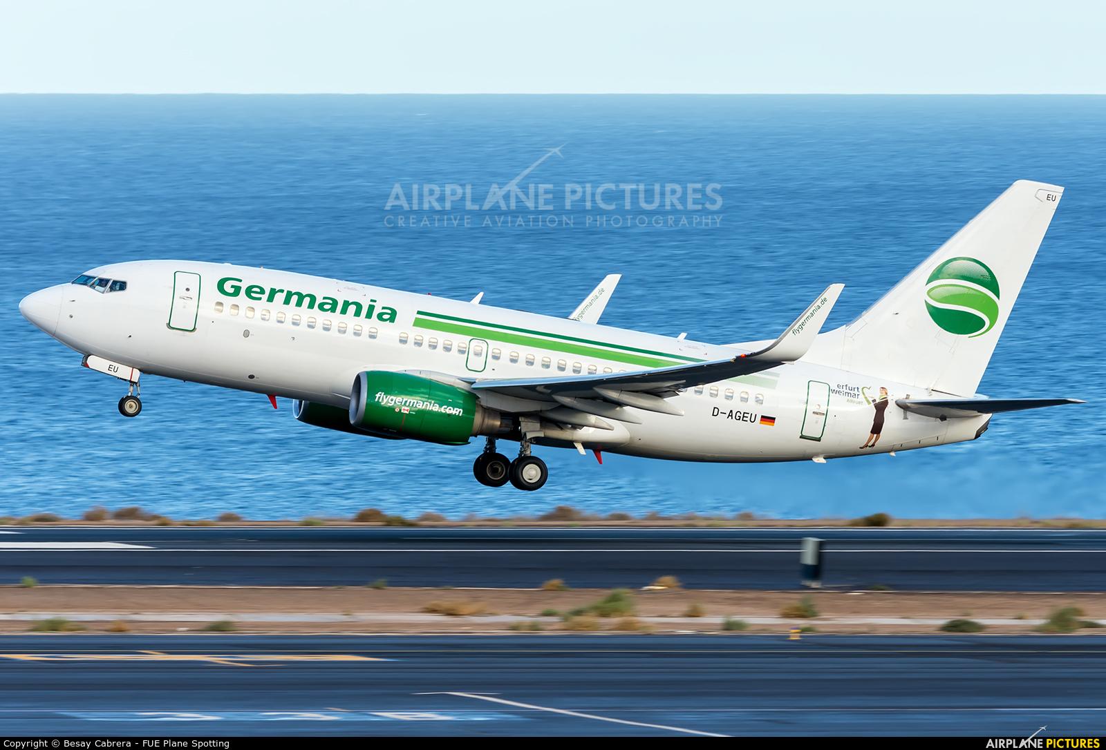 Germania D-AGEU aircraft at Fuerteventura - Puerto del Rosario