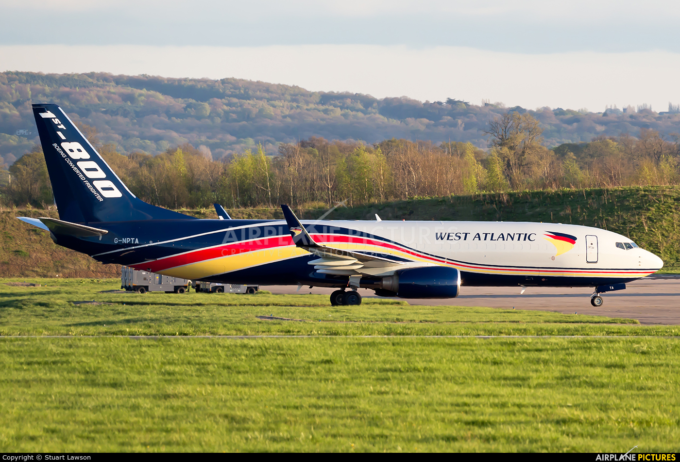 West Atlantic G-NPTA aircraft at East Midlands
