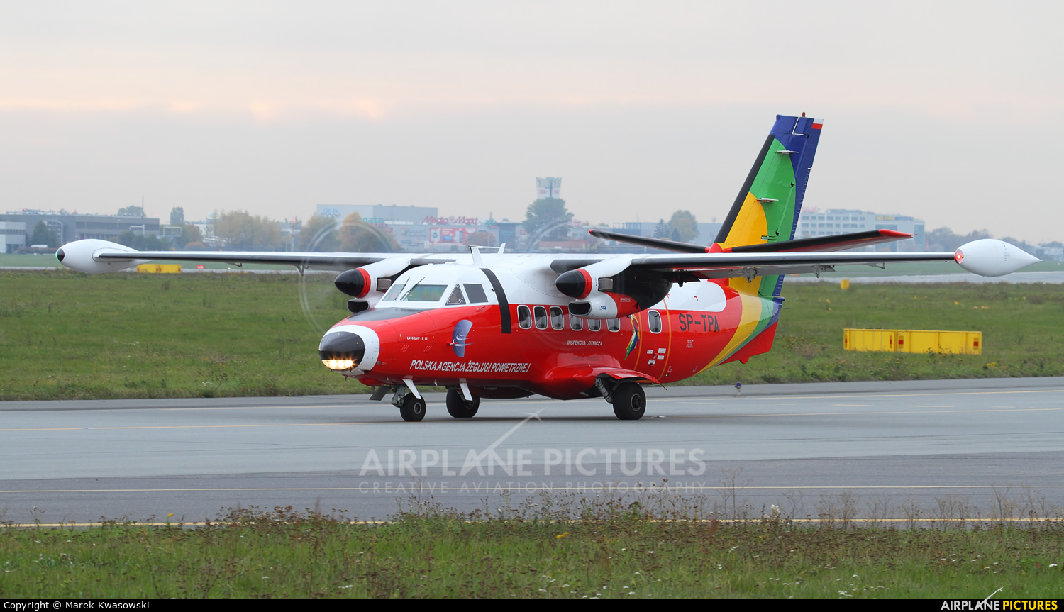 Polish Air Navigation Services Agency - PAZP SP-TPA aircraft at Warsaw - Frederic Chopin