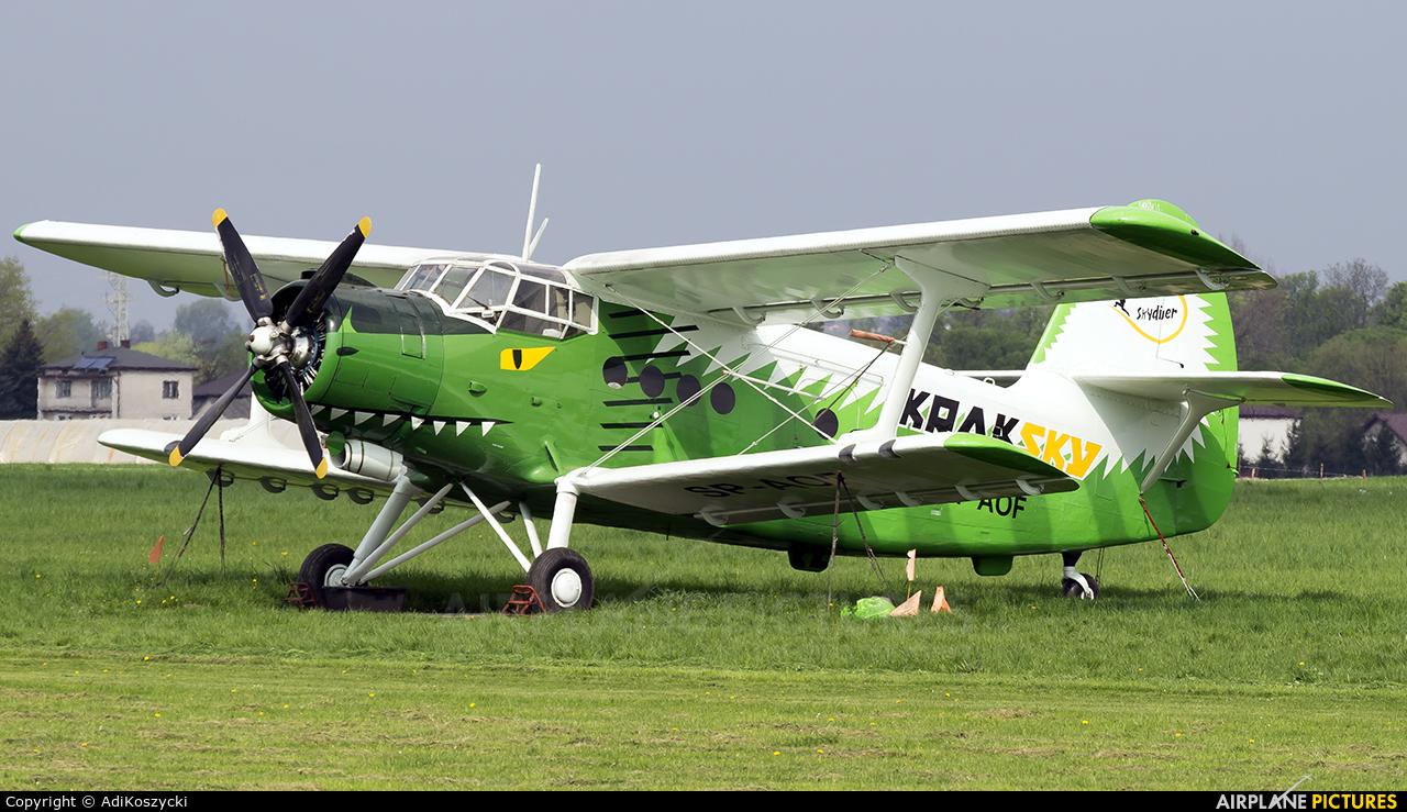 Aeroklub Krakowski SP-AOF aircraft at Kraków - Pobiednik Wielki