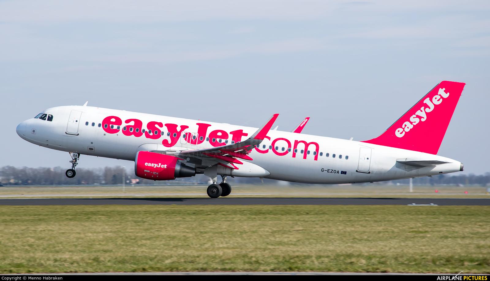easyJet G-EZOA aircraft at Amsterdam - Schiphol