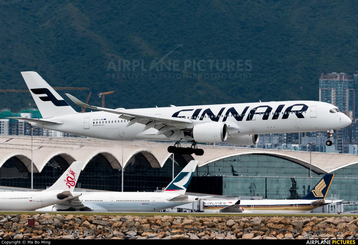 Finnair OH-LWA aircraft at HKG - Chek Lap Kok Intl