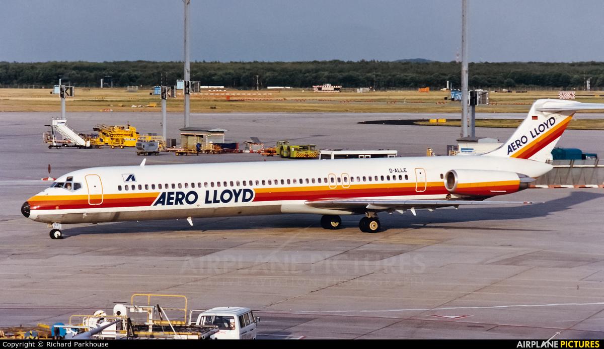 Aero Lloyd D-ALLE aircraft at Frankfurt