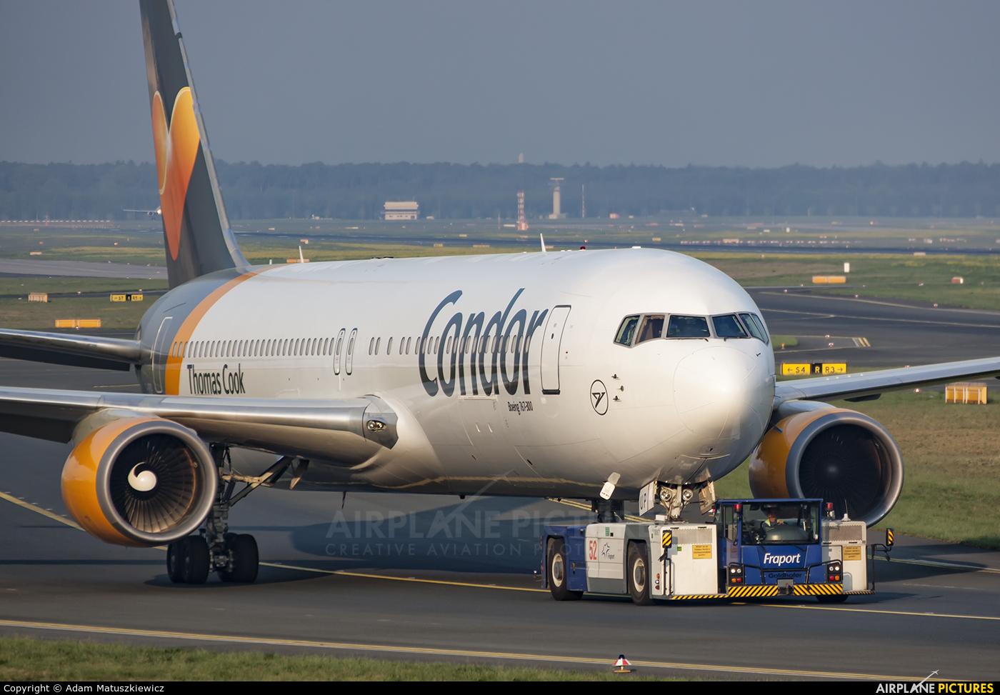 Condor D-ABUP aircraft at Frankfurt
