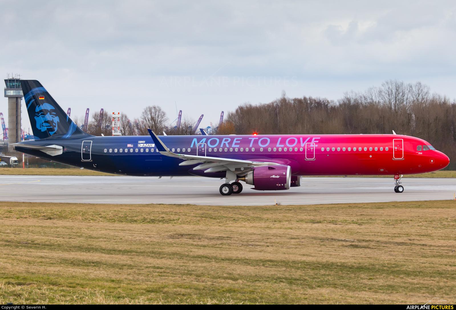 Alaska Airlines D-AZAH aircraft at Hamburg - Finkenwerder