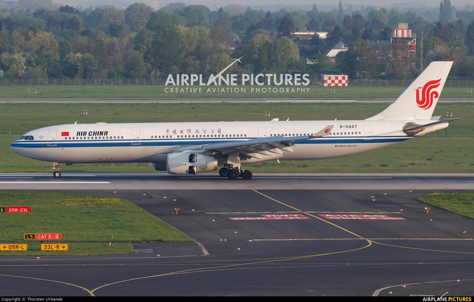 Air China B-5947 aircraft at Düsseldorf