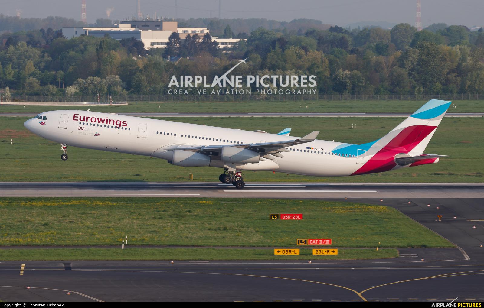 Eurowings OO-SCW aircraft at Düsseldorf