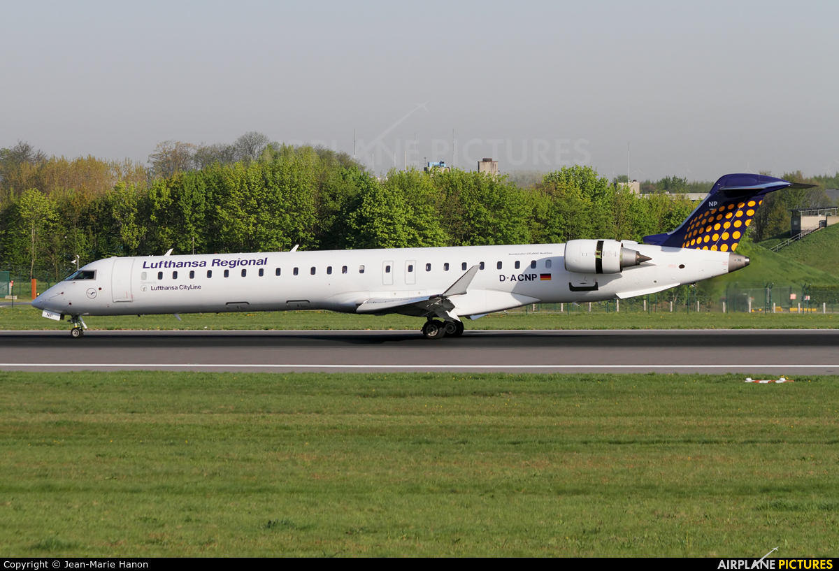 Lufthansa Regional - CityLine D-ACNP aircraft at Brussels - Zaventem
