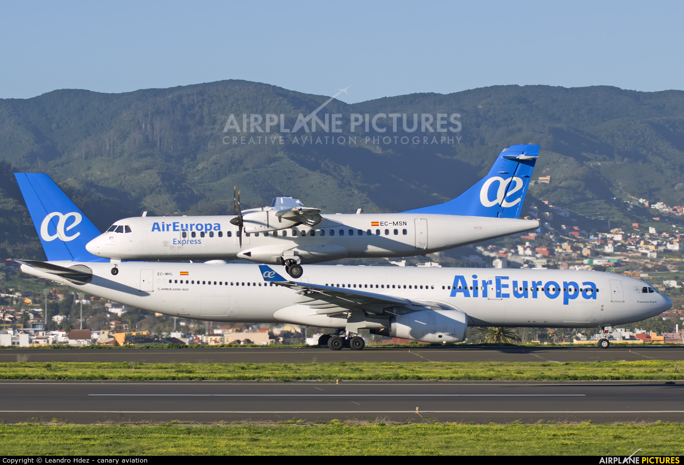 Air Europa Express EC-MSN aircraft at Tenerife Norte - Los Rodeos